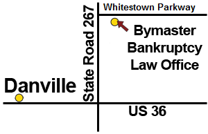 Directions from Danville Indiana to Bymaster Bankruptcy Law Offices